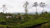 ceylon : The landscape with houses in a valley. Sri Lanka