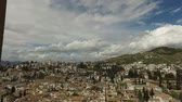 písemný : Granada, Andalucia, Spain - April 17, 2016: Overview of the city of Granada from the Alhambra (Ultra High Definition, UltraHD, Ultra HD, UHD, 4K, 2160P, 3840x2160)