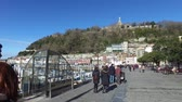 concha : Harbour area with promenade and boats moored at the port of Donostia-San Sebastian Vídeos