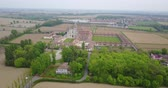 bederní : Aerial view of the Certosa di Pavia, built in the late fourteenth century, courts and the cloister of the monastery and shrine in the province of Pavia, Lombardia, Italy.