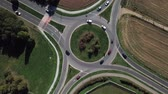 Aerial view of a roundabout and vehicle circulation Stock Footage