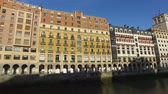 Palaces overlooking the Nervion River in the center of Bilbao, Spain. 0125201. Bridge