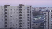 roof : residential areas of Saint-Petersburg timelapse with industrial buildings Stock Footage
