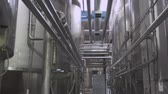 Cisterns and pipes at the dairy factory 動画素材