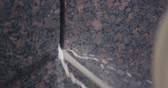 laborious : Granite processing in manufacturing Stock Footage