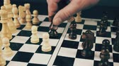 derrota : white and black chess Stock Footage