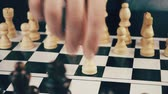 checkmate : white and black chess Stock Footage