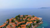 Aerial View Of Hotels on The Island, Montenegro, Sveti Stefan 2
