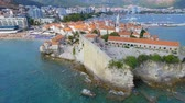 Aerial View Of Budva Old Town and Beach, Montenegro 13