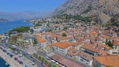 quadcopter : Aerial View Of Kotor Town, Bay and Mountains, Montenegro 1