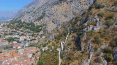 Aerial View Of Kotor Town, Church In Mountains, Montenegro 1