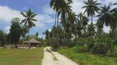 View Of the Palm Trees And Small Hut On Exotic Island, La Digue, Seychelles 2