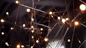 strop : background chandelier, abstract chandelier made of metal rods