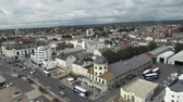 classic : Aerial ascending view of the town of Worthing, south of England Stock Footage