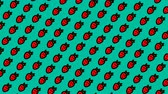 Animated pattern with hand drawn strawberries. 무비클립