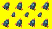 Animated background with space rockets 무비클립