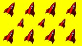 rocket : Animated background with space rockets Stock Footage