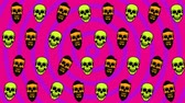 최소의 : Animated background with skulls