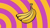 banány : Animated background with bananas. Summer party design