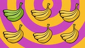 Animated background with bananas. Summer party design