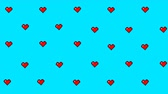최소의 : Animated background with hearts.