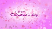 gerçeküstü : Digitally generated video of happy valentines day against colored background