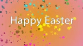 desejando : Digitally generated Happy Easter text against multicolor