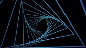 cg graphics : Digital generated video of modern concentric lines