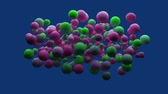 daire : Digitally generated video of multicolored bubbles Stok Video