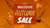 массивный : Digitally generated video of autumn sale concept 4k