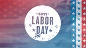эффекты : Digital generated video of labor day concept 4k Стоковые видеозаписи