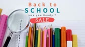 loupe : Digital generated video of back to school concept 4k Stock Footage