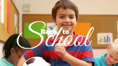 classroom : Digital generated video of back to school concept 4k Stock Footage