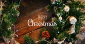 csecsebecse : Digitally generated video of Merry Christmas text and Christmas decoration 4k