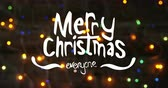 dekor : Digitally generated videos of Merry Christmas text and fairy lights 4k