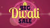 идея : Big Diwali Sale text with design against digitally generated background 4k Стоковые видеозаписи
