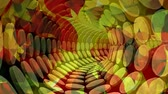 espiral : Digital composite of abstract spiral tunnel and autumn leaves 4k
