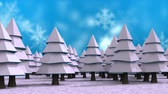 boreal : Digital composite of Christmas trees and snowflakes