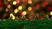 harisnya : Digital composite of Christmas Holly wreath with colorful lights