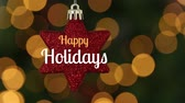 cicili bicili : Digital composite of Happy holidays text and Christmas star decoration