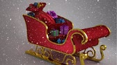 削除する : Digital composite of Video composition with snow over  3d  santas sleigh 動画素材