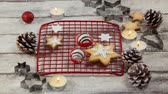szyszka : Digital composite of Falling snow with Christmas food