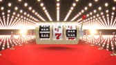 sete : Digital composite of Slot machine casino with flashing lights and red carpet