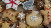 perník : Digital composite of Falling snow with Christmas cookies decoration