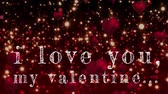 lekarstwo : i loye you my valentine writing against animated red hearts background