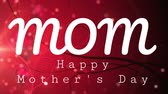 gratulál : Digital composite of happy mothers day text on red background containing hearts