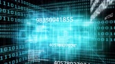 security code : Animation of digital network code scrolling on digital binary codes background Stock Footage