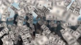 fan of money : Digital composite of the city while dollar bills float