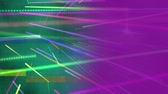 оказывать : Digital animation of colourful beams of light travelling to different directions on a background of gradient green and purple Стоковые видеозаписи