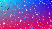 templombúcsú : Digital animation of colorful confetti falling in the screen